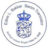 Edine Bakker Sworn Translator